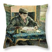 The Artists Son Throw Pillow by Camille Pissarro