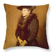 The Artists Wife, 1893 Throw Pillow