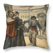 The Assassination Of The Empress Throw Pillow by French School
