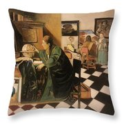 The Astrologer In The Golden Ratio Throw Pillow
