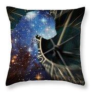 The Astronomer's Cat Throw Pillow