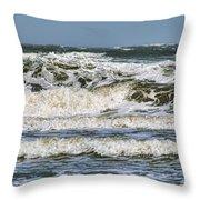 The Atlantic Ocean At Sullivan's Island Throw Pillow