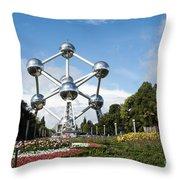 The Atomium Throw Pillow