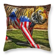 The Auburn Tiger Throw Pillow