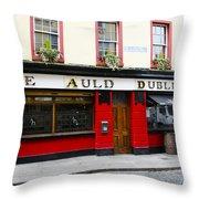 The Auld Dubliner  Throw Pillow