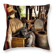 The Aussie Dunny Can Throw Pillow