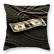 The Austerity Effect Throw Pillow