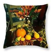 The Autumn Chair Throw Pillow