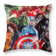 The Avengers Throw Pillow