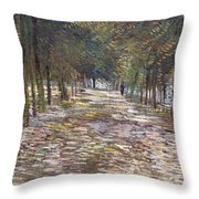 The Avenue At The Park Throw Pillow