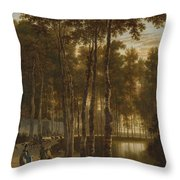 The Avenue Of Birches Throw Pillow
