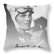 The Aviatrix Throw Pillow