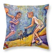 The B-ball Game Throw Pillow