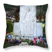 The Babe's Resting Place Throw Pillow