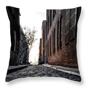 The Back Alley Throw Pillow