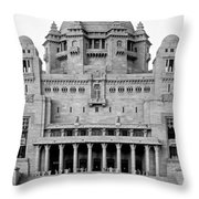 The Back Door Monochrome Throw Pillow