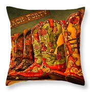 The Back Forty Boots Are Made For Dancin' Throw Pillow