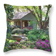 The Back Porch Throw Pillow