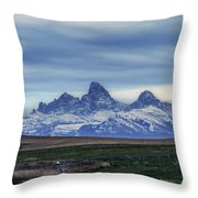 The Back Side Of The Tetons Throw Pillow