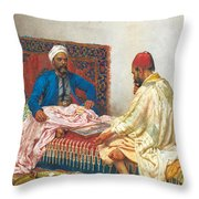 The Backgammon Players Throw Pillow