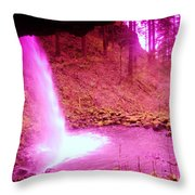 The Backside Of Little Pony Falls  Throw Pillow
