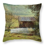 The Backyard Throw Pillow