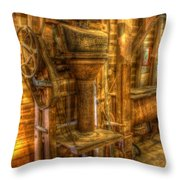 The Bagging Machine Throw Pillow