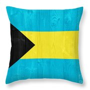 The Bahamas Flag Throw Pillow