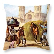 The Baker And The Straw Seller, 1840 Throw Pillow