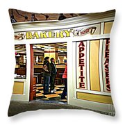The Bakery Throw Pillow