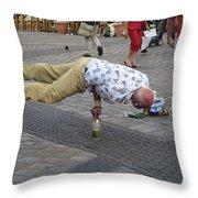 The Balancing Act Throw Pillow