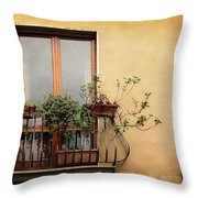 The Balcony Throw Pillow