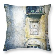 The Balcony Scene Throw Pillow