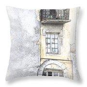 The Balcony Scene II Throw Pillow