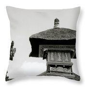 The Bali Temple Throw Pillow