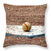 The Ball Of Field Of Dreams Throw Pillow by Susanne Van Hulst