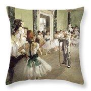 The Ballet Class Throw Pillow