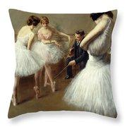 The Ballet Lesson Throw Pillow
