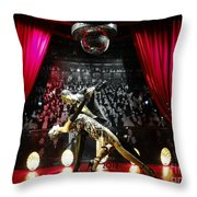 The Ballroom Dancers Throw Pillow
