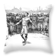 The Bamboula, 1885 Throw Pillow