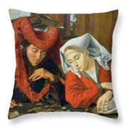 The Banker And His Wife Throw Pillow