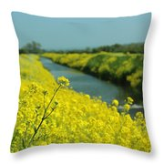 The Banks Of Yellow Throw Pillow