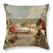 The Banquet Of Cleopatra Throw Pillow
