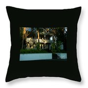 The Banyan House Resort In Key West Throw Pillow