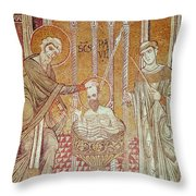 The Baptism Of St. Paul By Ananias, From Scenes From The Life Of St. Paul Mosaic Throw Pillow