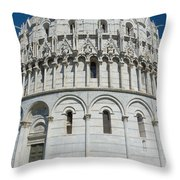 The Baptistery In Pisa  Throw Pillow