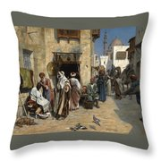 The Barber Throw Pillow