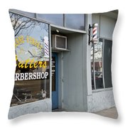 The Barber Shop 3 Throw Pillow