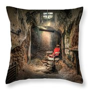The Barber's Chair -the Demon Barber Throw Pillow