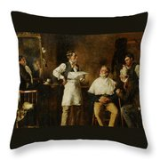 The Barbers Shop Throw Pillow